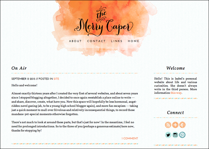 Visit The Merry Caper now!