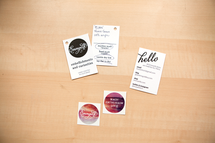 Product Tags, Business Cards, Stickers