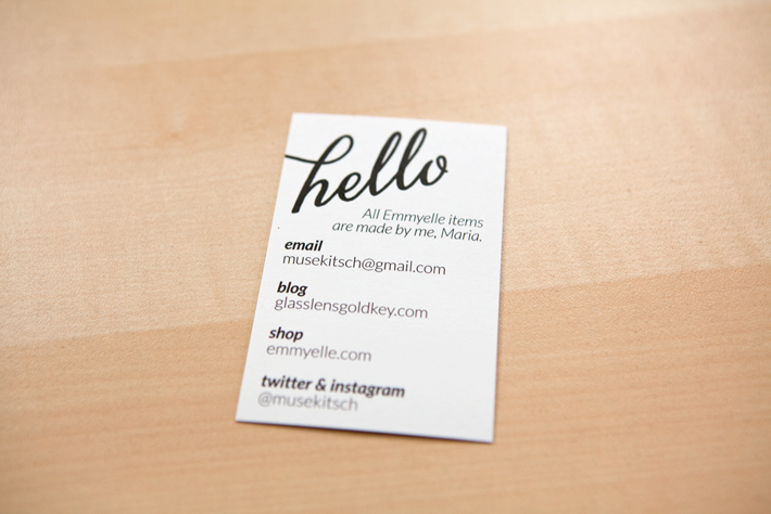 Back of business card
