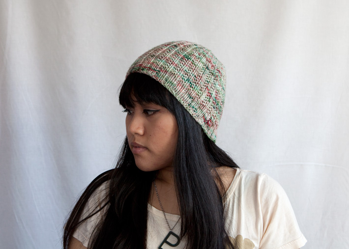 Flynn Hat in Voolenvine Yarns' Deck the Halls
